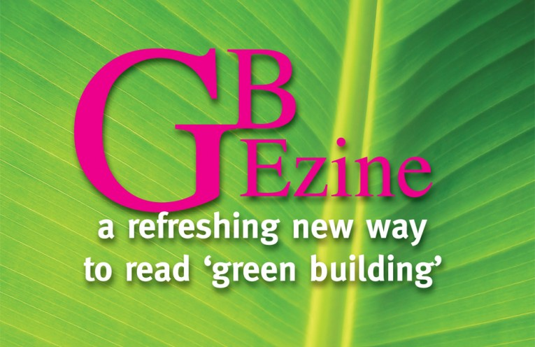 GBEzine. a refreshing new way to read 'green building'